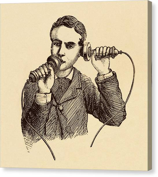 Electronic Instruments Canvas Print - How To Use A Telephone Illustration. by David Parker