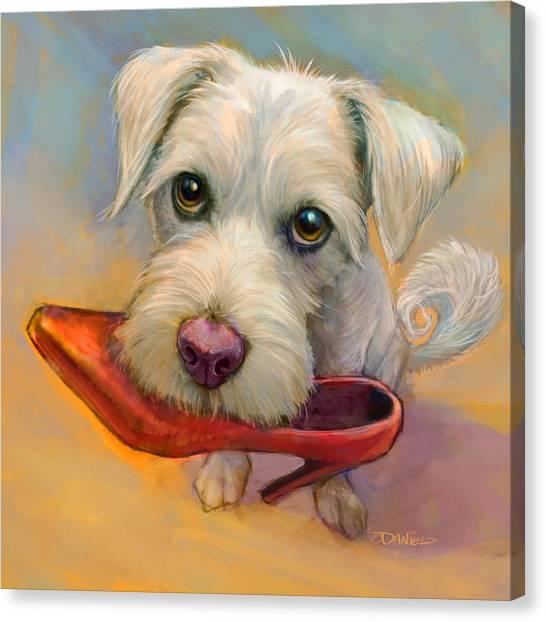 Shoe Canvas Print - A Girls Best Friend by Sean ODaniels