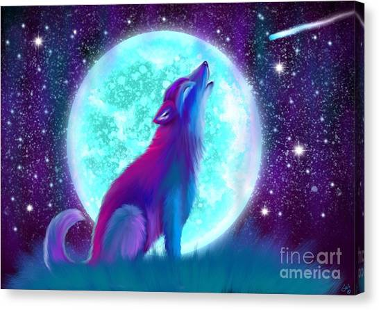 Howling Wolves Canvas Print - Howling Again by Nick Gustafson