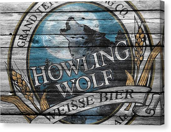 Howling Wolves Canvas Print - Howling Wolf by Joe Hamilton