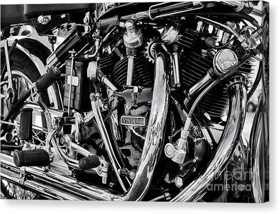 Hrd Vincent Motorcycle Engine Canvas Print