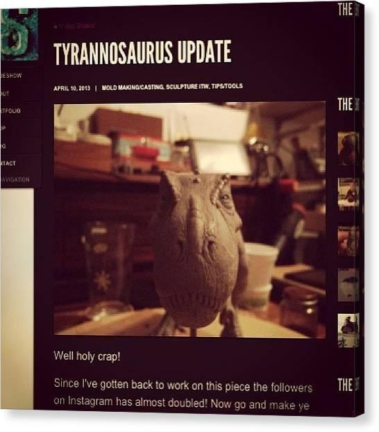 Dinosaurs Canvas Print - Http://solafar.com/?p=6019  Some Blah by Dana Forte