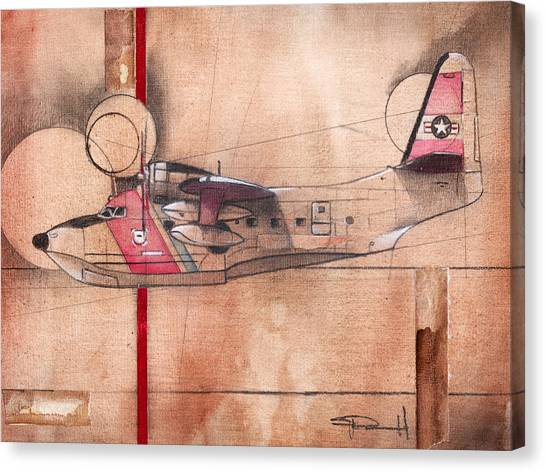 Hu 16 Albatross Canvas Print