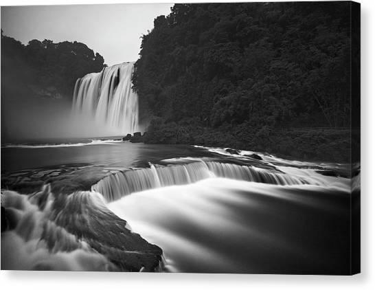 Flowing Canvas Print - Huangguoshu Waterfalls by Yan Zhang