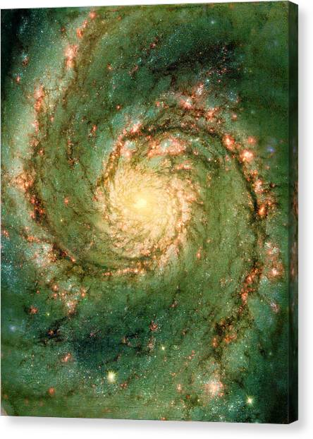 The Void Above Canvas Print - Hubble - The Heart Of The Whirlpool Galaxy by Paulette B Wright