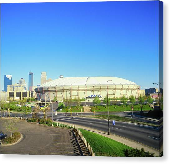 Minnesota Twins Canvas Print - Hubert H. Humphrey Metrodome by Panoramic Images