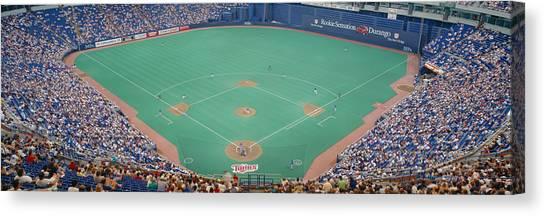 Pitching Canvas Print - Hubert H. Humphrey Metronome, Twins V by Panoramic Images