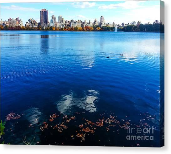 Hudson River Fall Landscape Canvas Print
