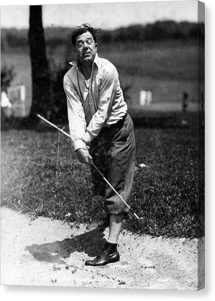 Huey P. Long Play Golf Canvas Print by Artist Unknown