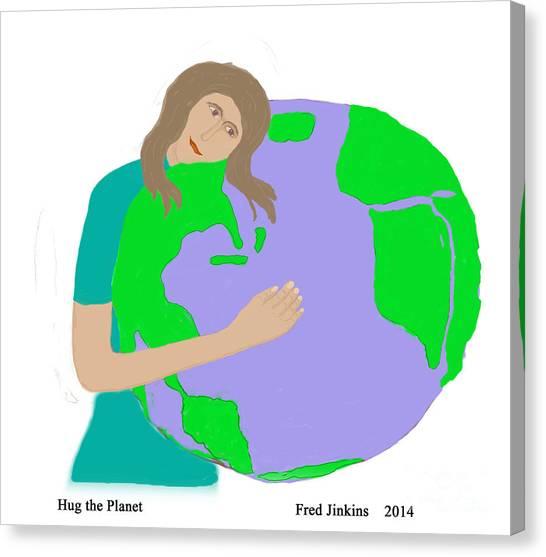 Hug The Planet Canvas Print