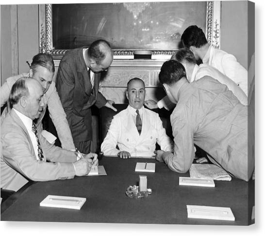 Press Conference Canvas Print - Hugo Black Court Nomination by Underwood Archives