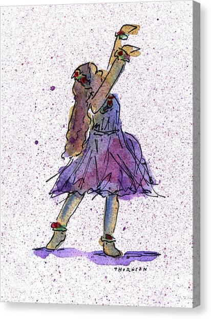 Hula Series Lokelani Canvas Print