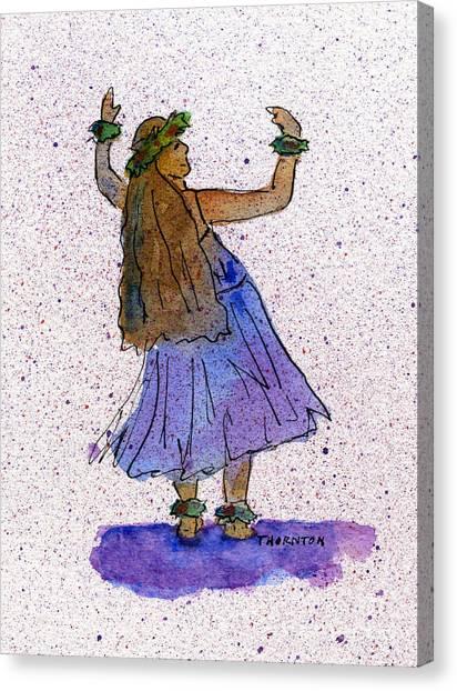 Hula Series Malia Canvas Print