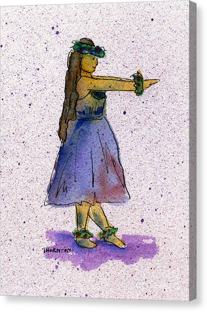 Hula Series Nakine Canvas Print