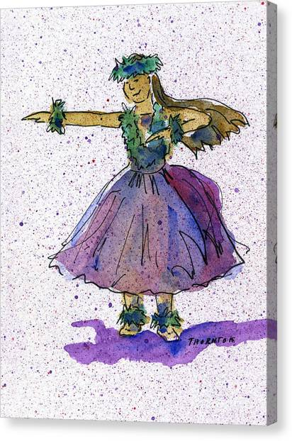 Hula Series Olina Canvas Print