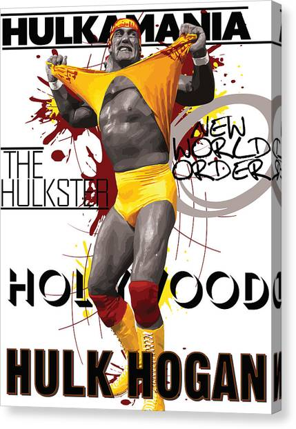Hulk Hogan Canvas Print - Hulk Hogan by Anibal Diaz