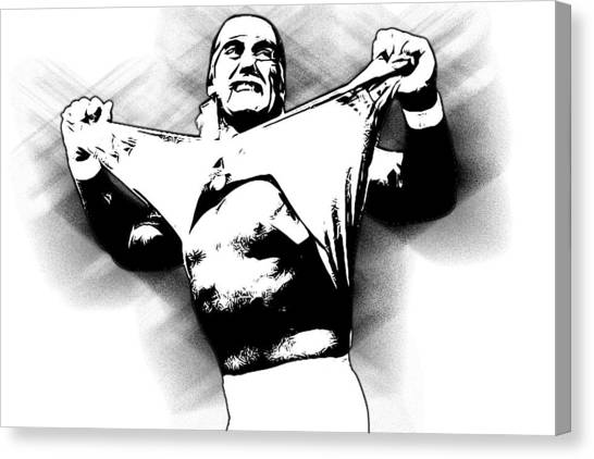 Hulk Hogan Canvas Print - Hulk Hogan By Gbs by Anibal Diaz