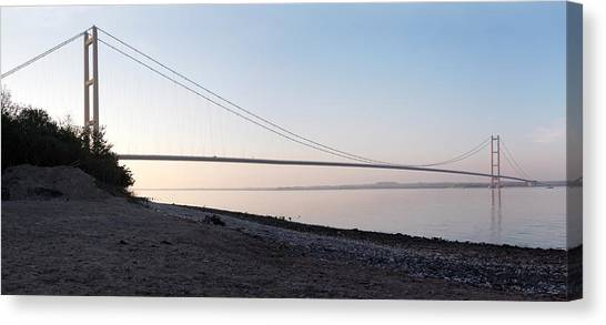 Humber Bridge Panorama Canvas Print