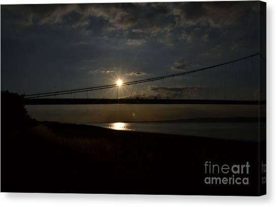Humber Bridge Sunset Canvas Print