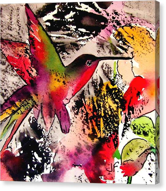 Canvas Print - Humming Bird by Jane Ferguson