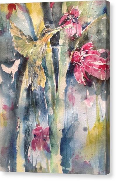 Hummingbird Don't Fly Away ...fly Away Canvas Print