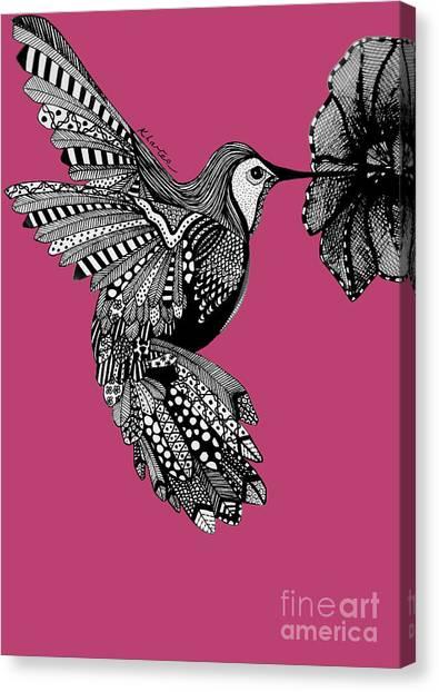 Hummingbird Flight 5 Canvas Print by Karen Larter