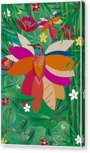 Hummingbird - Limited Edition  Of 10 Canvas Print