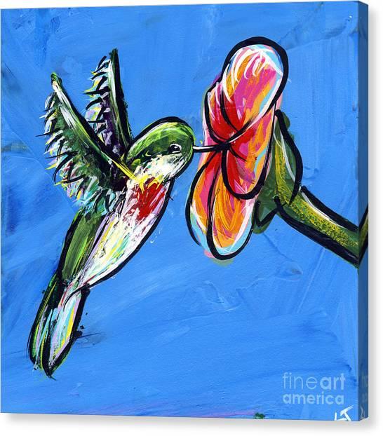 Midnite Canvas Print - Hummingbird I by Lovejoy