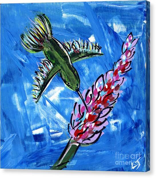 Midnite Canvas Print - Hummingbird II by Lovejoy