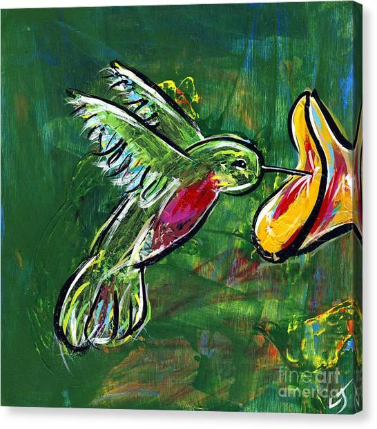 Midnite Canvas Print - Hummingbird Iv by Lovejoy