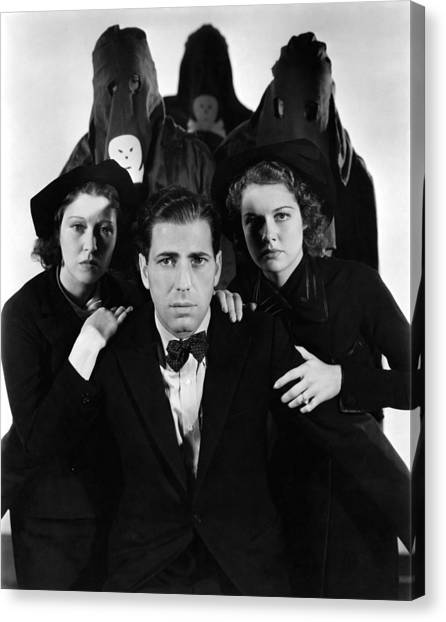 The Legion Canvas Print - Humphrey Bogart In The Black Legion 1937 by Mountain Dreams