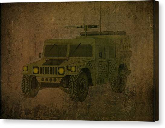 Iraq Canvas Print - Humvee Midnight Desert  by Movie Poster Prints