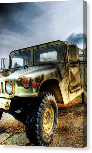 Blue Camo Canvas Print - Humvee by Off The Beaten Path Photography - Andrew Alexander