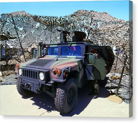 Humvee Canvas Print