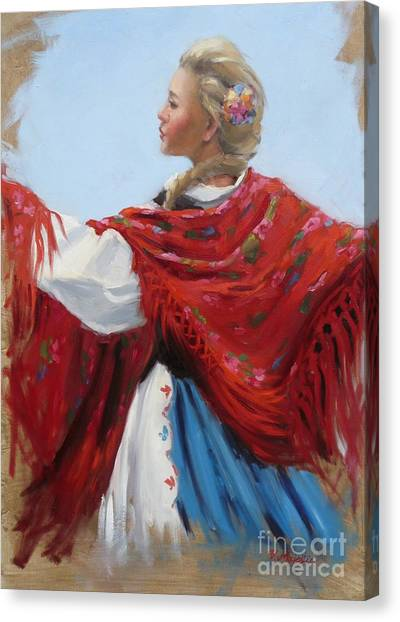 Hungarian Folk Dancer Canvas Print