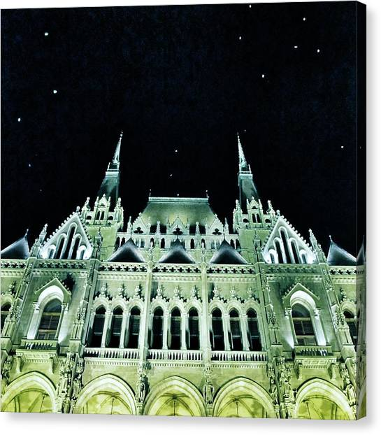 Parliament Canvas Print - Hungarian Parliament Building - Budapest by Marianna Mills