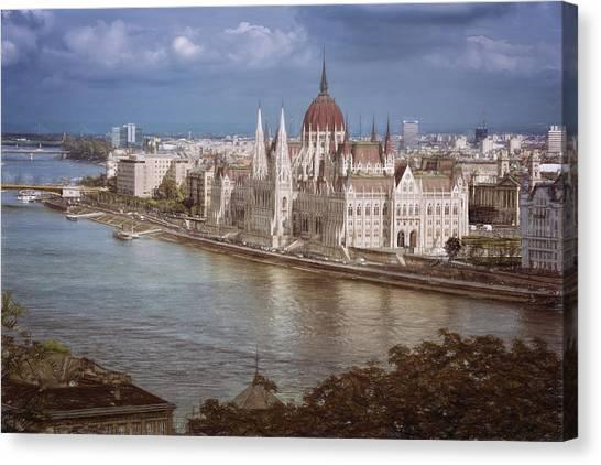 Parliament Canvas Print - Hungarian Parliament Building by Joan Carroll