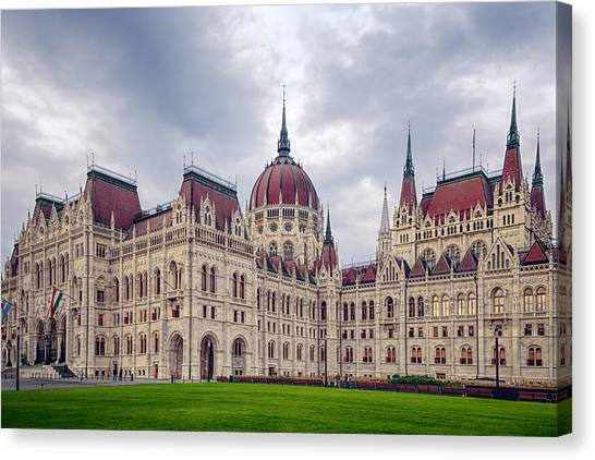 Eastern Europe Canvas Print - Hungarian Parliament  by Joan Carroll