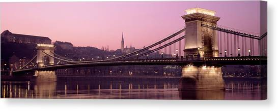 Danube Canvas Print - Hungary, Budapest, Szechenyi Lanchid by Panoramic Images