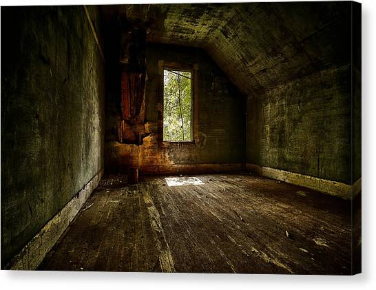 Life-threatening Canvas Print - Hunted House In The Daylight by Jakub Sisak