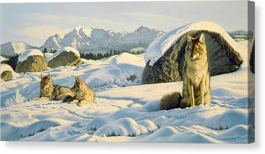 Yellowstone Canvas Print - Hunter's Rest by Paul Krapf