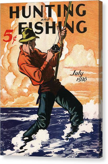 Fishing Canvas Print - Hunting And Fishing by Gary Grayson