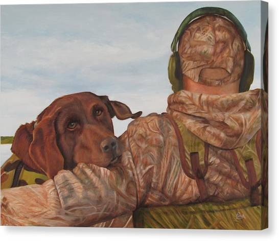 Hunting Boyfriend Canvas Print