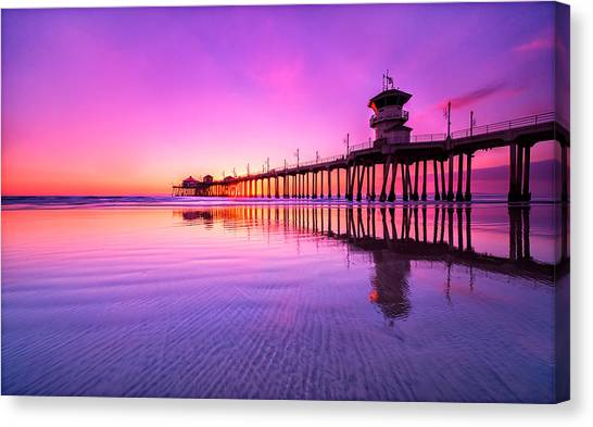 Huntington Beach Canvas Print by Lincoln Harrison