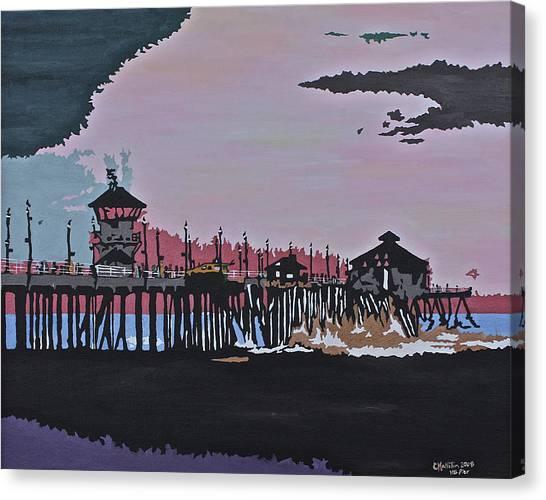 Huntington Beach Pier 1 Canvas Print