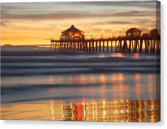 Huntington Beach Pier Canvas Print