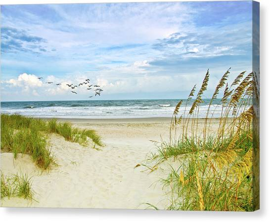 Huntington Beach Scene Canvas Print