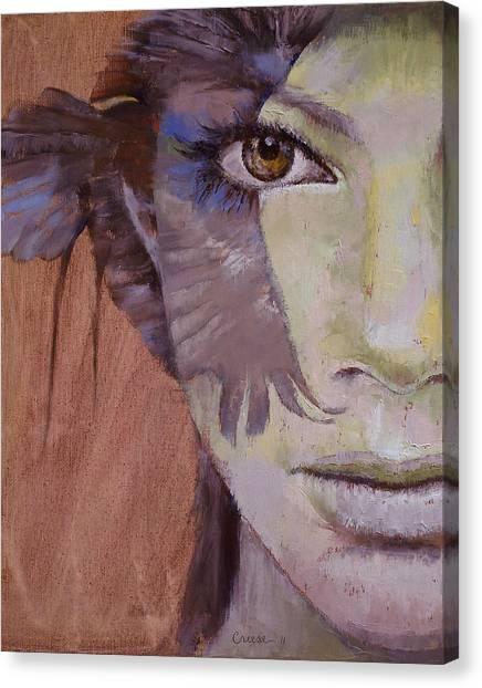 Falcons Canvas Print - Huntress by Michael Creese