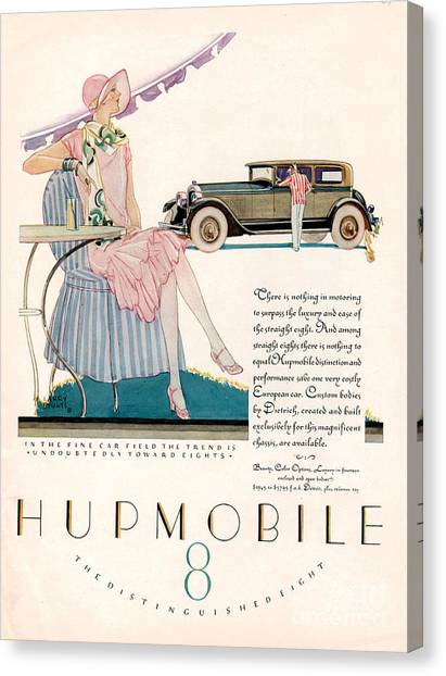 Hupmobile 1927 1920s Usa Cc Cars Canvas Print by The Advertising Archives