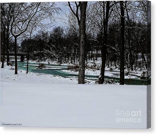 Huron River In Monroeville Canvas Print